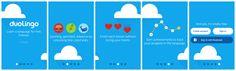 Duolingo – onboading tour.