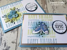Happy Birthday card perfect for both male and female cards. Uses Perennial Birthday
