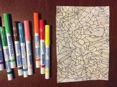 Papírová vitráž Pencil