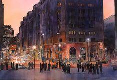 John T. Salminen (American, born 1945)  'Peace Hotel', watercolor