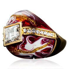 Ornella - Crystal Gold Ring