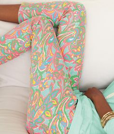 Pastel paisley leggings