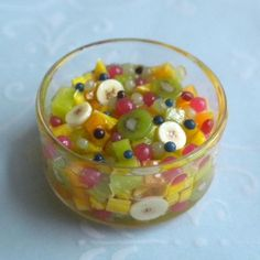 Amazing Fruit Salad by IGMA Fellow Jan Patrie - Dollhouse Miniature Food