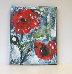 Floral Still Life Red Acrylic Abstract Flower от BrookeHowie