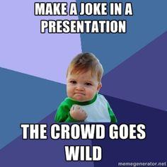 Joke presentation