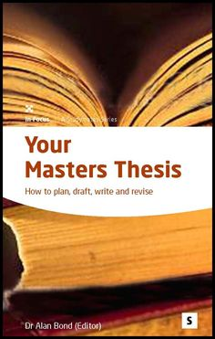 Publish my Master's thesis
