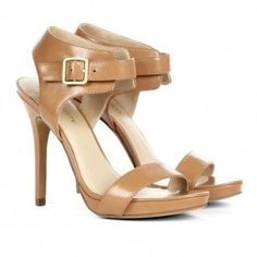 Ankle strap open toe brown heels by sole society  from ILoveCuteShoes.com