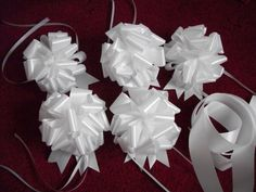 Wedding Car Decoration set 5 Bows & Ribbon *white **