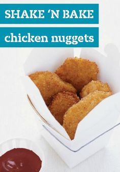 SHAKE 'N BAKE Chicken Nuggets -- This healthy living recipe, ready for the dinner table in just 30 minutes, is sure to please both kids and adults alike!