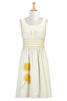 Dandelions cotton dress