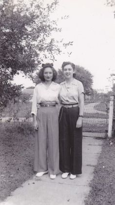 awesome Those pants! The 1940's --War years. A begining of more widespread  freedom and ...