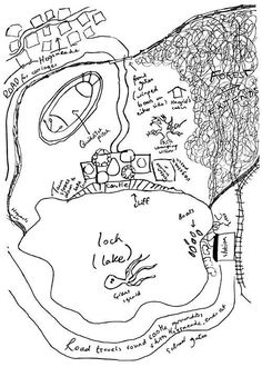 J.K. Rowling's map drawing of Hogwarts. It all finally makes sense.