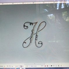 Beautiful letters embroidered on beautiful items.