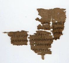 Papyrus manuscript fragments of the First Epistle to the Corinthians from an early copy of the New Testament in Greek. The surviving verses are 1 Corinthians 14:31-34; 15:3-6. Found in Egypt, dates from around 350 AD and is located in the Sackler Library in the University of Oxford England.