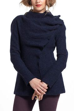 Boiled Wool Draped Sweatercoat by Gro Abrahamsson