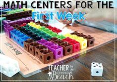 First Week Math Centers for 1st Grade | The Teacher's Cauldron | Bloglovin'
