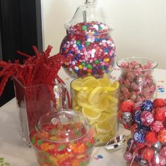 Contact me if you need a simple or lavish candy buffet.  I can make them happen in all shapes and sizes.