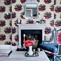 Moderne floral Wohnzimmer Wohnideen Living Ideas Interiors Decoration