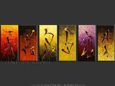 """The Six Senses"" - Original Abstract Art by Lena Karpinsky, http://www.artbylena.com/original-painting/20391/the-six-senses.html"
