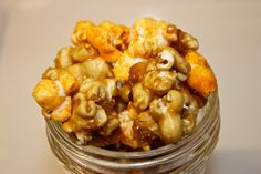Chicago Mix Popcorn - who knew cheddar cheese and caramel would taste so good?!  It sounds gross, but this is my new snack time addiction.