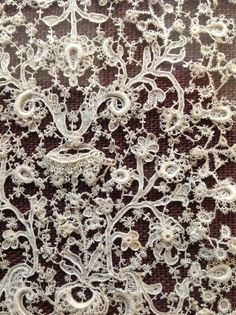 Burano lace - When we go to Italy I am going to make a fool of myself visiting Burano.  My jaw will just stay permanently on the floor.  The amount of skill, time, effort that goes in to a piece like this just amazes me. I am in awe of these women.