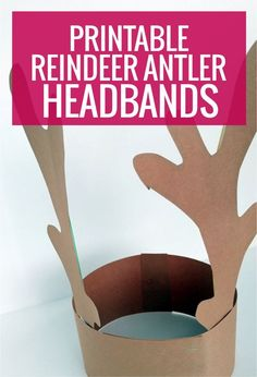 Free Printable Reindeer Antler Headbands for kindergarten - we wore these each year for our sing around the tree event at school