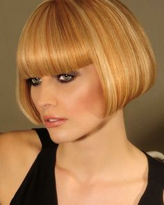 Love the colour and highlights. So sexy with beautiful bangs and curled under ends!  I would be floating as I minced gayly out the salon proud of my stunningly styled bob....Happy to admit I'm a girly guy, feminised and emasculated on a daily basis!...I'll change my name to Lisa, always liked that name!