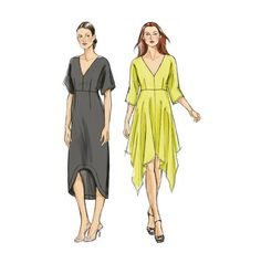 VOGUE DRESS PATTERN Handkerchief Dress Pattern or Casual Dress Very Easy Vogue 8894 Womens Sewing Patterns Size 4 6 8 10 12 14 16 UNCuT by DesignRewindFashions on Etsy