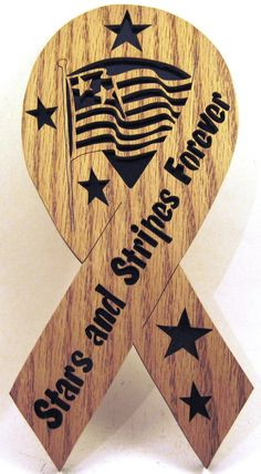 Stars and Stripes Forever Ribbon scroll saw by ScrollSawTreasures, $19.00