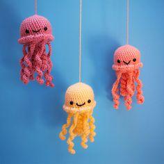 kawaii jolly jellyfish amigurumi ^^ by amyula.deviantart.com on @DeviantArt