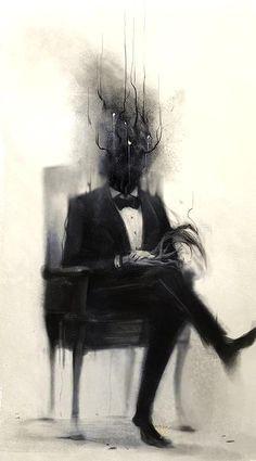 Arte Horror, Horror Art, Dark Fantasy Art, Art Sinistre, Art Noir, Arte Obscura, Creepy Art, Creepy Paintings, Dark Paintings