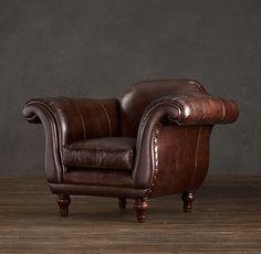 Regency leather chair gentlementools:  Beautiful! wb102