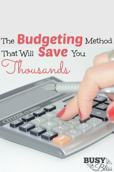 Learn the simple budgeting method that will help you build up your savings…