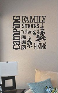 Best Memories Made Camping Quotes Vinyl Lettering Art Wall Sticker - How to make vinyl wall decals with silhouette cameo