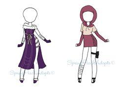 Naruto Outfit Adopts 9 (CLOSED) by SpringPeachAdopts.deviantart.com on @DeviantArt