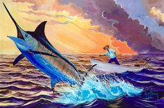 """Old Man And The Sea"" - Guy Harvey"
