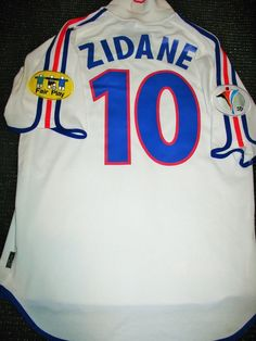 225ee484b Authentic Zidane France 2000 EURO Jersey Real Madrid Maillot Shirt Trikot M  (eBay Link)