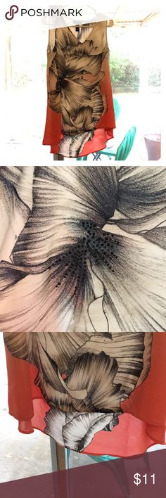 Alfani Sleeveless Flowy Floral Shirt Sz 4 Alfani Sleeveless Flowy Floral Shirt Sz 4, length of front (from shoulder): 26, length of back (from shoulder): 30 Alfani Tops Blouses