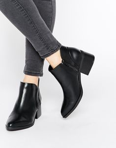 Image 1 of Call It Spring Adraun Black Pointed Block Heel Ankle Boots
