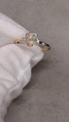 I said I'm going to upload a video of my favorite ring!  There are a lot of fire of in the opal.  I can stare at the ring all day.