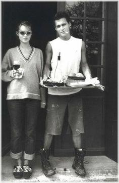 Johnny Depp & Kate Moss    Whoa whoa whoa, this should be legal.