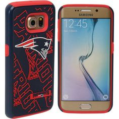 New England Patriots Galaxy S6 Edge Dual Hybrid Case