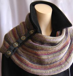 A maddy laine knitting pattern that combines color and reverse stockinette stitch in a versatile wrap that is shaped from the lower edge, creating a comfortable fit around the neck and shoulders. Weaving Patterns, Knitting Patterns, Crochet Patterns, Knit Wrap, How To Purl Knit, Paintbox Yarn, Easy Knitting, Start Knitting, Stockinette