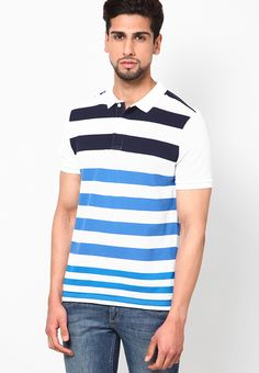 16ec39d0d Buy GIORDANO Multicoloured Colored Striped Polo T-Shirts Online - 3340843 -  Jabong