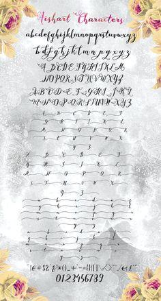 Aishart Font, Modern Calligraphy