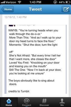 First it was seeing the sun, now it's singing about doors? Only our boys <3