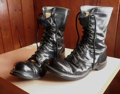 Vintage Military Jump Boots (with the toes turned up just so!)