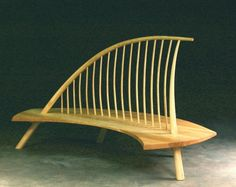 custom made Wind Sail Bench by Jeffrey Greene