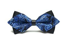 Dark Blue Paisley Bow Tie .Vintage Bow Tie.Silk by HeySir on Etsy, $15.60