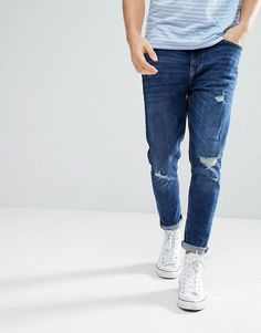 Discover Fashion Online Skinny Tapered Jeans, Ripped Skinny Jeans,  Distressed Denim Jeans, Jeans 912f608460